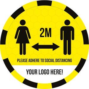 Custom 'Social Distancing' Anti-Slip floor Graphics – Rough Floor